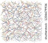 shorter and longer hand drawn... | Shutterstock .eps vector #1206679936