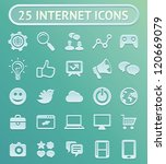 25 vector internet icons   set...
