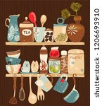 collection of decorative... | Shutterstock .eps vector #1206693910