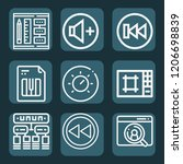 contains such icons as file ... | Shutterstock .eps vector #1206698839