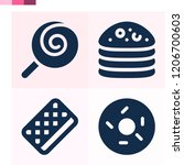 contains such icons as lollipop ... | Shutterstock .eps vector #1206700603