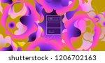 luid color background. liquid... | Shutterstock .eps vector #1206702163