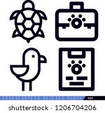 set of 4 animals outline icons...   Shutterstock .eps vector #1206704206