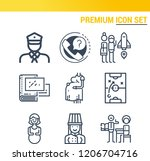 simple set of  9 outline icons...   Shutterstock .eps vector #1206704716