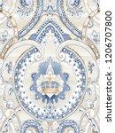 baroque damask pattern ... | Shutterstock . vector #1206707800