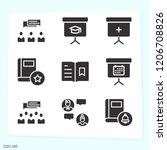 simple set of 9 icons such as...