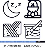 set of 4 nature outline icons... | Shutterstock .eps vector #1206709210