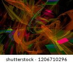 abstract digital fractal ...   Shutterstock . vector #1206710296