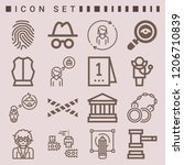 simple set of  16 outline icons ... | Shutterstock .eps vector #1206710839