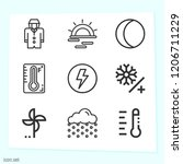 simple set of 9 icons such as... | Shutterstock .eps vector #1206711229