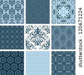 Floral background set - stock vector