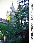 vajdahunyad castle gates tower   Shutterstock . vector #1206712309