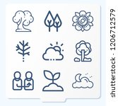 simple set of 9 icons related... | Shutterstock .eps vector #1206712579