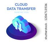 cloud data transfer isometric... | Shutterstock .eps vector #1206713536