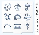 simple set of 9 icons  such as... | Shutterstock .eps vector #1206715696