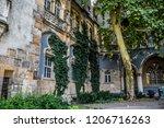 vajdahunyad castle courtyard   Shutterstock . vector #1206716263