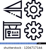 set of 4 other outline icons... | Shutterstock .eps vector #1206717166