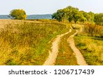 agriculture field road...   Shutterstock . vector #1206717439