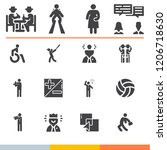 simple collection of people... | Shutterstock .eps vector #1206718630