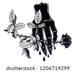 linear art of a stylized evil... | Shutterstock .eps vector #1206719299