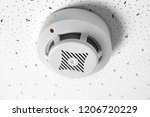 modern alarm security system... | Shutterstock . vector #1206720229