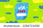promo code. concept promotions. ...   Shutterstock .eps vector #1206721030