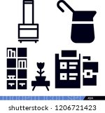 set of 4 other filled icons... | Shutterstock .eps vector #1206721423