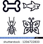 set of 4 animals outline icons...   Shutterstock .eps vector #1206722833