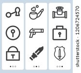 simple set of  9 outline icons... | Shutterstock .eps vector #1206724570