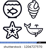 set of 4 animals outline icons...   Shutterstock .eps vector #1206727570