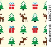 christmas background   seamless ... | Shutterstock .eps vector #120672964