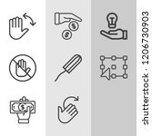 simple collection of hand... | Shutterstock .eps vector #1206730903
