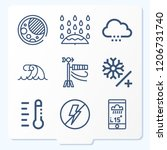 simple set of 9 icons related... | Shutterstock .eps vector #1206731740