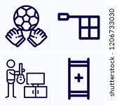 simple set of 4 icons related... | Shutterstock .eps vector #1206733030