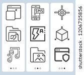 simple set of  9 outline icons...   Shutterstock .eps vector #1206735856