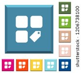 tag component white icons on... | Shutterstock .eps vector #1206738100