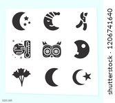 simple set of 9 icons related... | Shutterstock .eps vector #1206741640