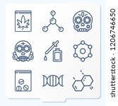 simple set of 9 icons related... | Shutterstock .eps vector #1206746650