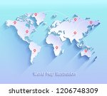 world map vector illustration. | Shutterstock .eps vector #1206748309