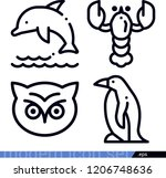 set of 4 animals outline icons...   Shutterstock .eps vector #1206748636