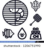 set of 6 animals outline icons...   Shutterstock .eps vector #1206751990