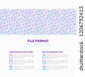 file formats concept with thin... | Shutterstock .eps vector #1206752413