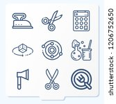 simple set of 9 icons related... | Shutterstock .eps vector #1206752650