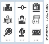 simple set of  9 filled icons... | Shutterstock .eps vector #1206752809