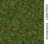 seamless pattern with leaves... | Shutterstock .eps vector #120675523