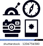 technology related filled... | Shutterstock .eps vector #1206756580