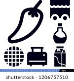 food related filled vector... | Shutterstock .eps vector #1206757510
