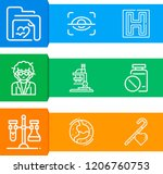 simple set of  9 outline icons...   Shutterstock .eps vector #1206760753