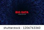 big data stream visualization.... | Shutterstock .eps vector #1206763360
