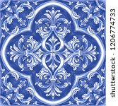 azulejos   portuguese tiles... | Shutterstock .eps vector #1206774733